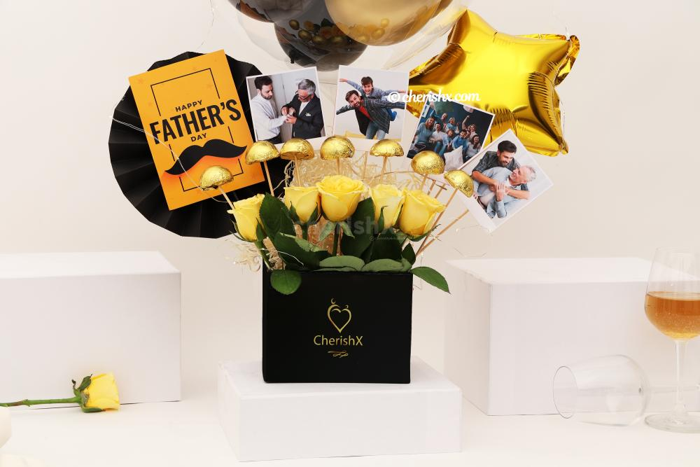 Gift your father a beautiful Black & Gold Father's Day Bucket!