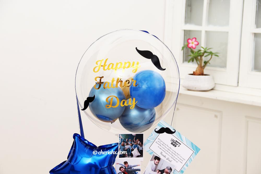 Shower your love upon your loving DAD with this Blue & Gold Father's Day Bucket!