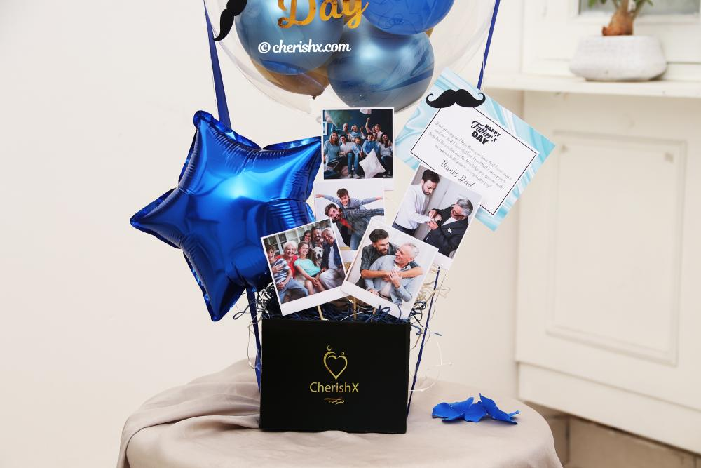 Blue & Gold Father's Day Bucket