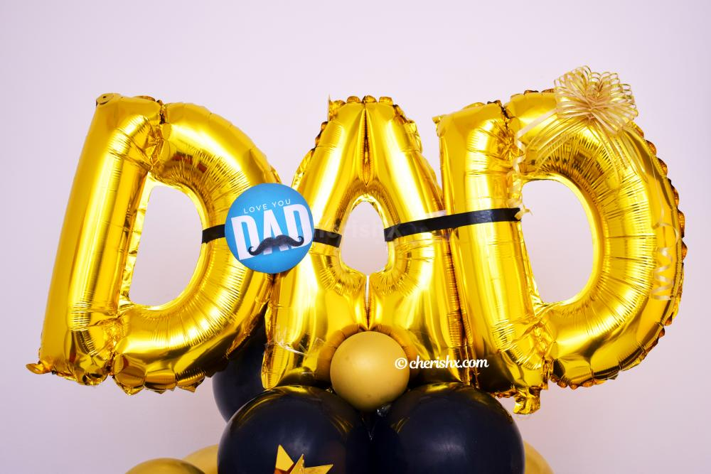 """Make your father overwhelmed with joy by gifting CherishX''s  Father's Day """"DAD"""" Balloon Bunch!"""