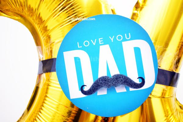 You can surprise your dad with a whole lot of beautiful balloon bunch!