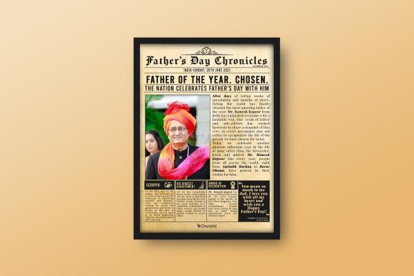 Chronicles Frame for Dad
