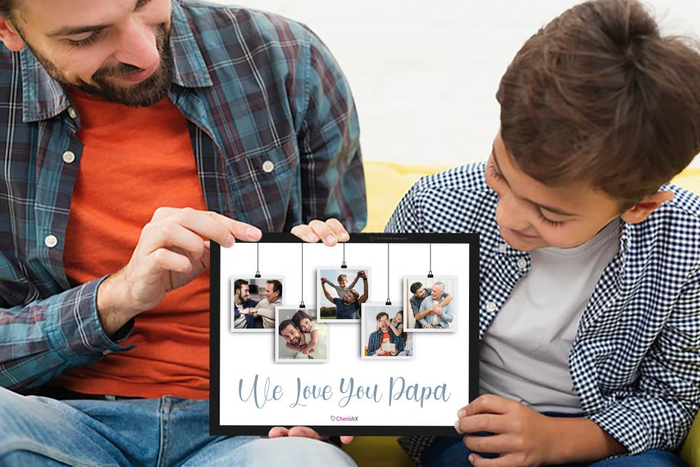 CherishX's Personalized Father's Day Frame specially designed for you to gift your father!