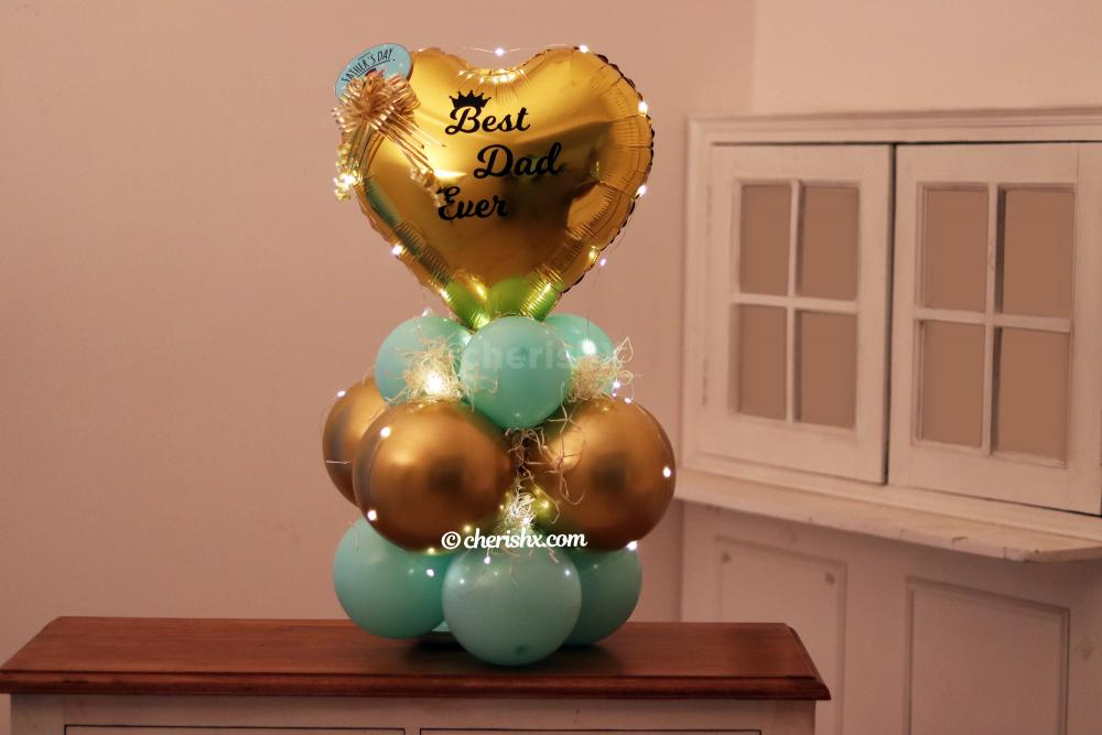 A bright balloon bunch curated for Father's day by CherishX!