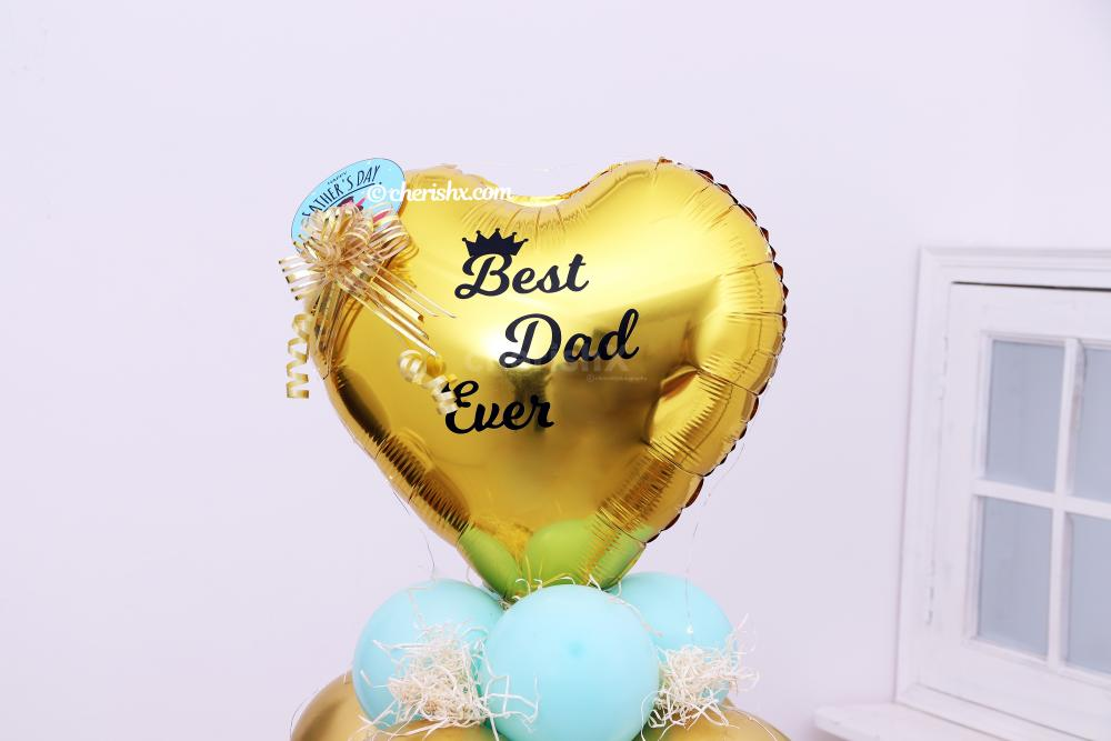 A customisable black vinyl message upto 25 character for e.g best dad ever, on the Balloon Bunch by CherishX.