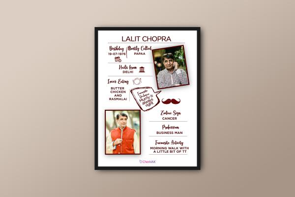 Book a wonderful Frame for your father's birthday or on father's day!