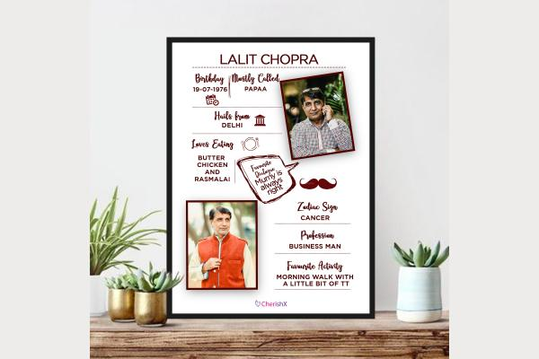 Tell all about your father in this beautiful Frame offered by CherishX!