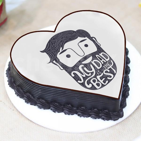 'My dad is the best' hai Designer Cake
