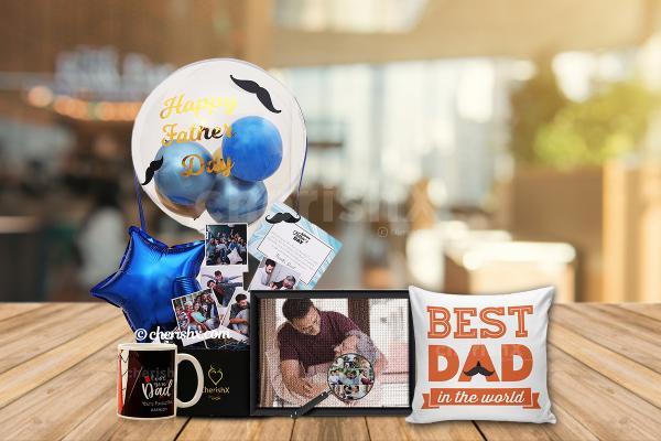 Balloon Box Hamper For Dad