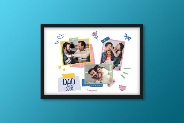I Love You 3000 Frame for DAD