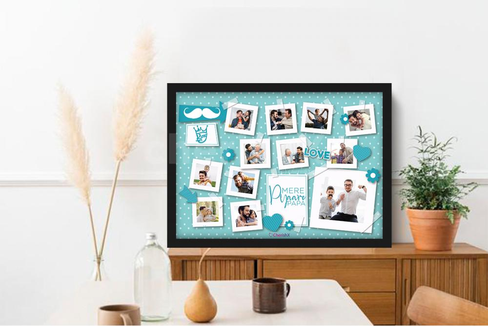 A delightful and attractive personalised photo frame for your dad!