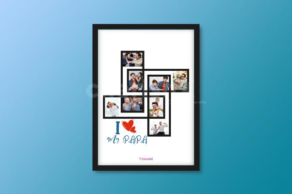 A wonderfully curated frame that will surely make your father happy!