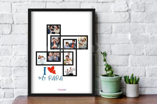 Book a personalized Father's day frame and shower love to your dad!