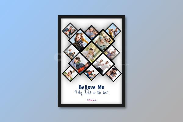 A father's Day Personalised photo frame gift to give to your father!