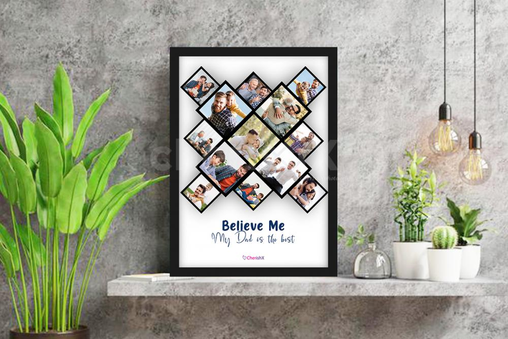 A beautifully curated frame to gift on father's day!