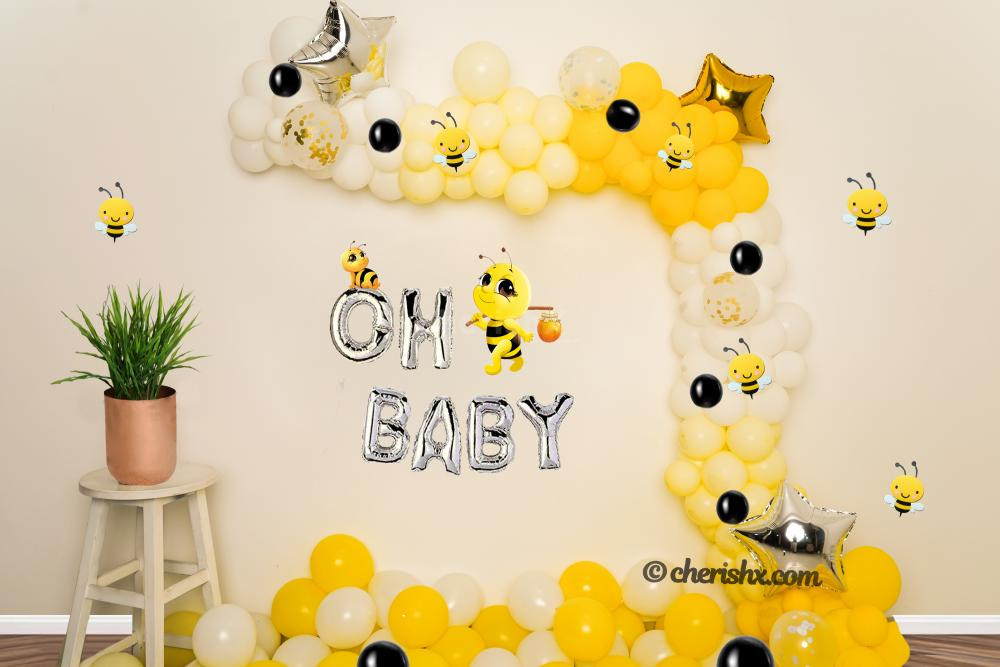 Make the mother-to-be feel special with CherishX's BumbleBee Themed Decoration!