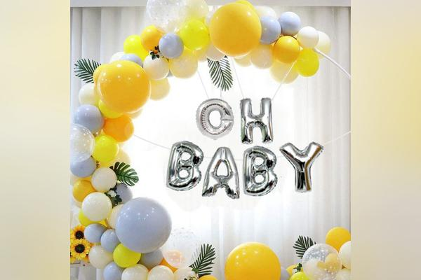 Bring on the fun with CherishX's Beautifl and trendy baby shower ring decor!