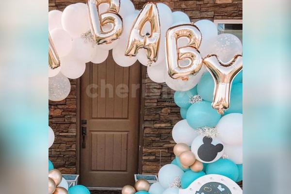 Get this beautiful ring baby shower decor offered by CherishX!