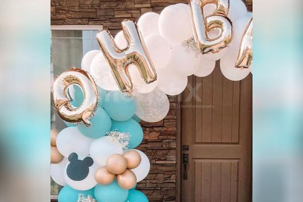A beautifully curated ring decor for 1st birthday and baby shower.