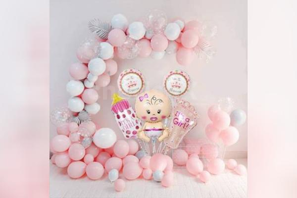 Welcome Baby Girl - Pastel Pink Decoration