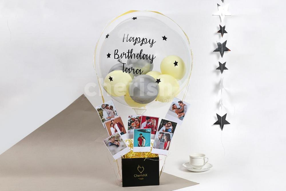 Buy Online Balloon Bucket with Bubble Balloons for Delivery in Bangalore