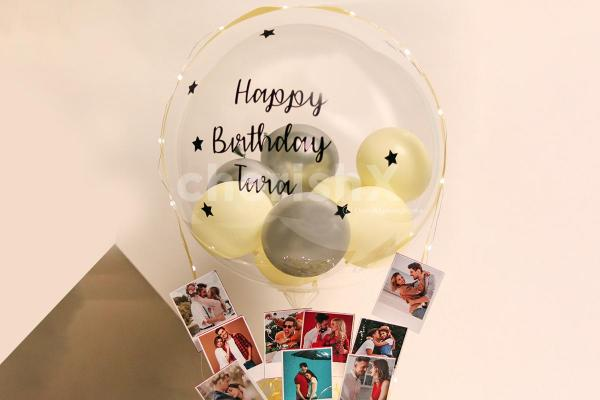 Personalised Message on Bubble Balloons - For Anniversary or Birthday Gifts