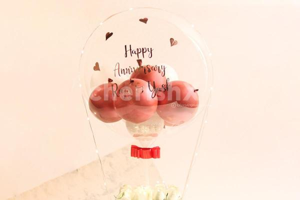 Personalised Message on the Bubble Balloon Bouquet
