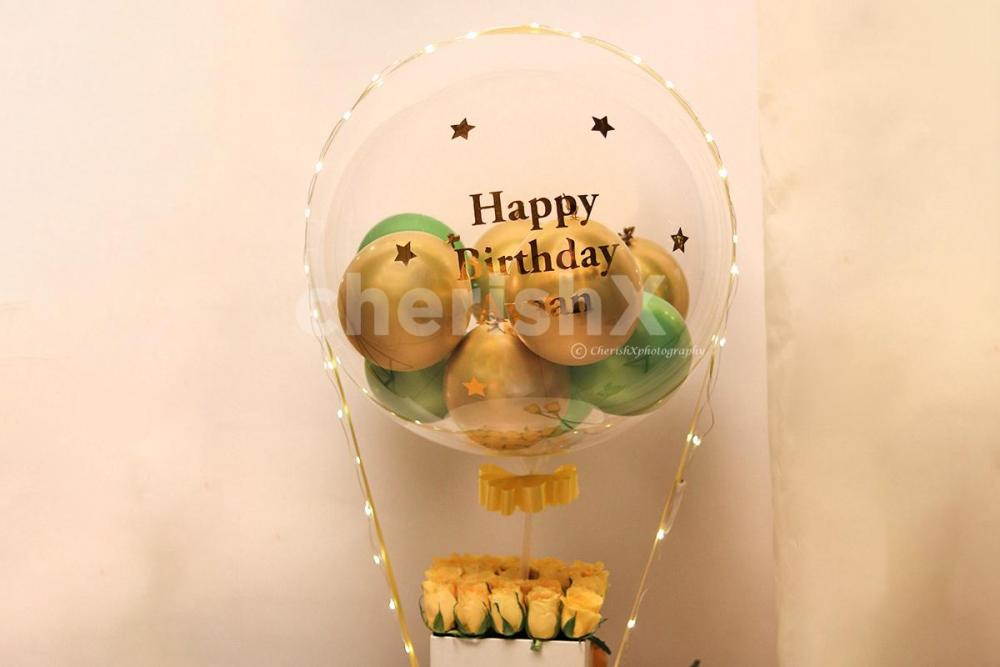 Bubble Balloon with Personalised Message