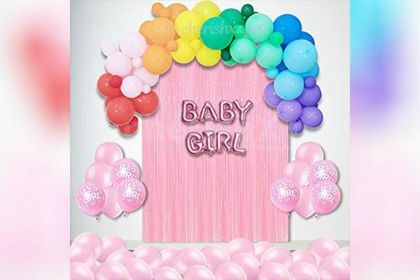 Bright-Coloured Welcome Baby Girl Decor