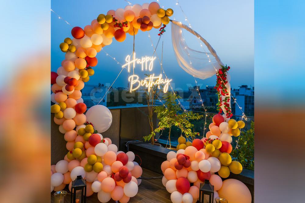 Surprise your close ones with CherishX's breathtaking Happy Birthday Neon Lights Decor!