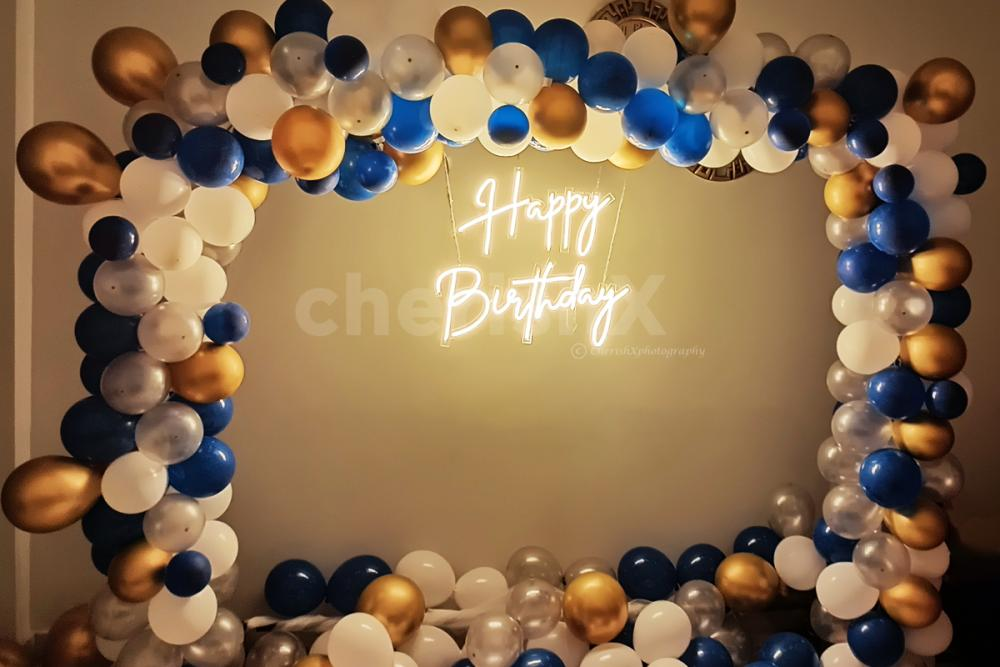 Go for something different this time with an elegant happy birthday neon light decor!