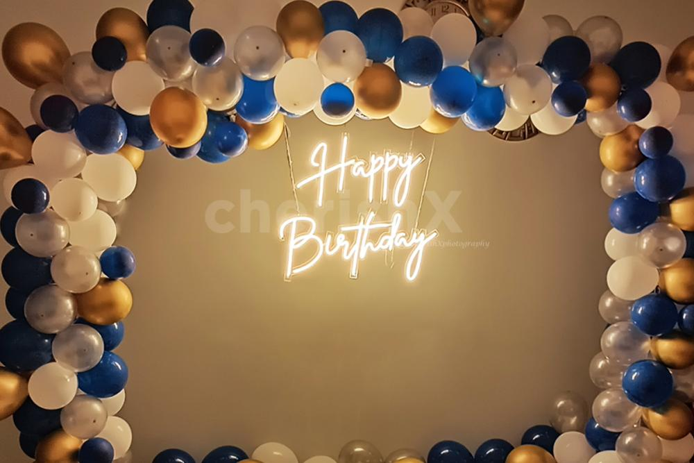 Give your party a chic look with CherishX's Happy Birthday Neon Light Decor!