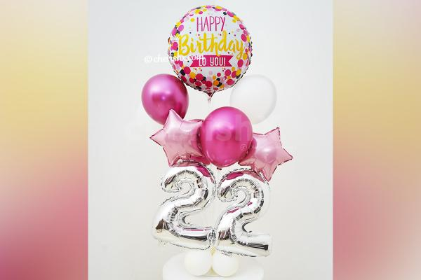 Attractive Pink Chrome Balloon Stand to make your corners decorative.
