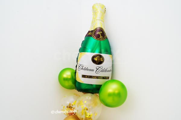 A Champagne Bottle Celebrations Balloon Bouquet to make your events delightful.