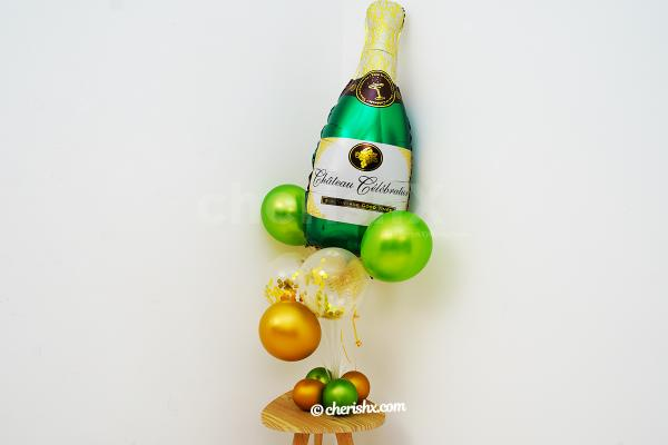 Champagne Celebration Balloon Bouquet