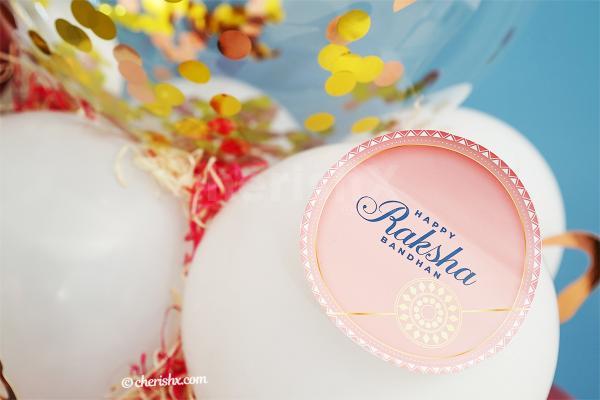 Wish your close ones happy Raksha Bandhan with CherishX's Rakhi Balloon Bouquet