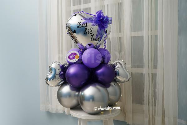 Best SIS Lavender Balloon Bouquet