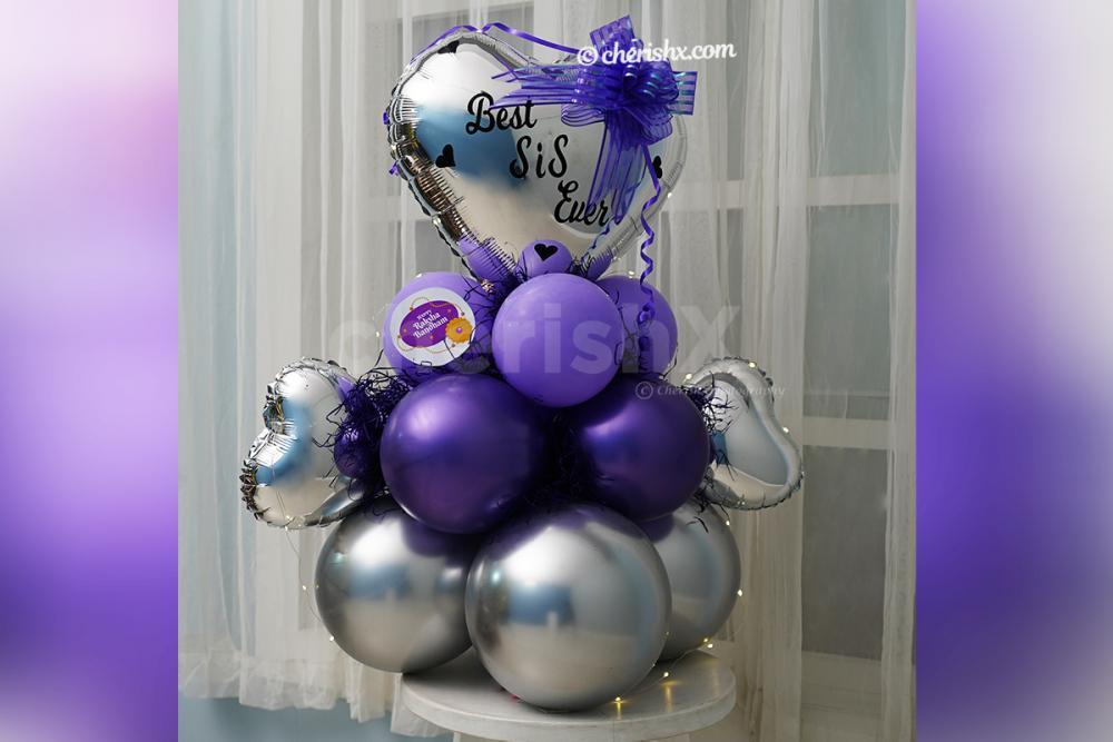 Make your Raksha Bandhan celebrations beautiful by adding these elegant Best SIS Lavender Balloon Bouquet