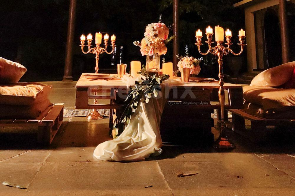 Private Gazebo Candle Light Dining