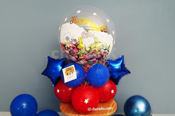 Superhero Kids Rakhi Balloon Bouquet
