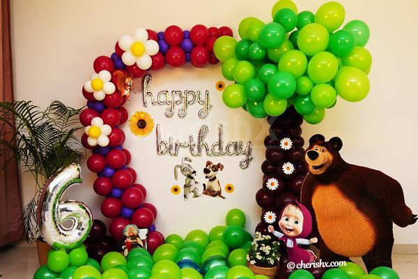 Masha And Bear Birthday Decor