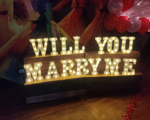 """Add """"Will You Marry Me"""" Led Letters"""