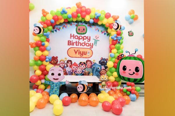 Cocomelon Theme Birthday Decor