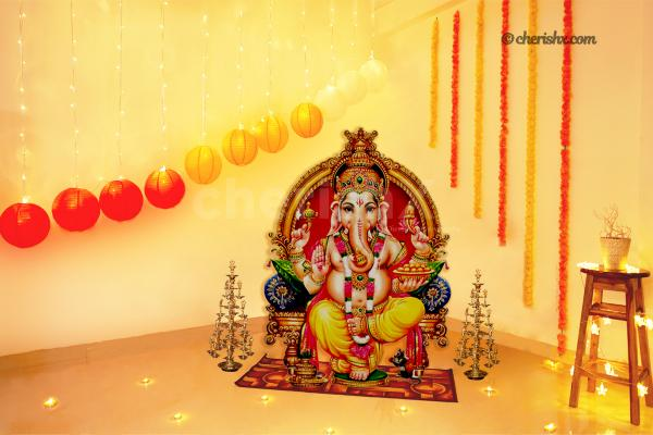 Ganesh Chaturthi Lantern Theme Decor