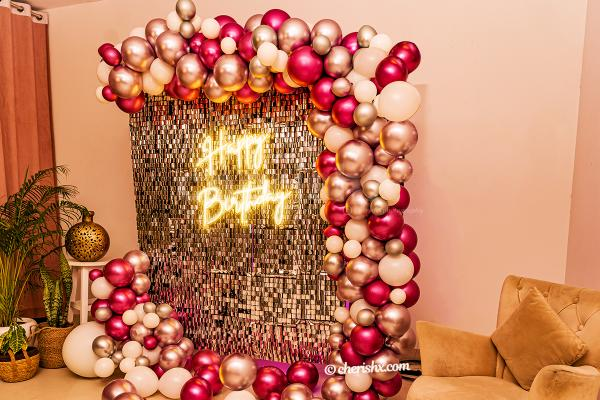 Surprise your close ones with CherishX's Glamorous Pink and Silver Decor!!