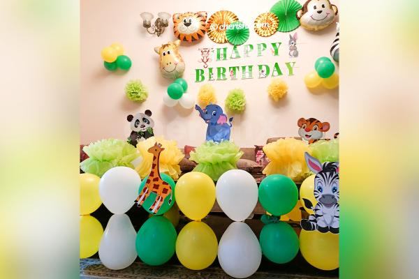 Jungle Themed Birthday Wall Decoration by CherishX