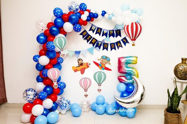 Aeroplane Theme Birthday Decor