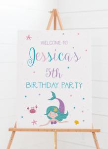 Personalised Mermaid Theme Welcome Board