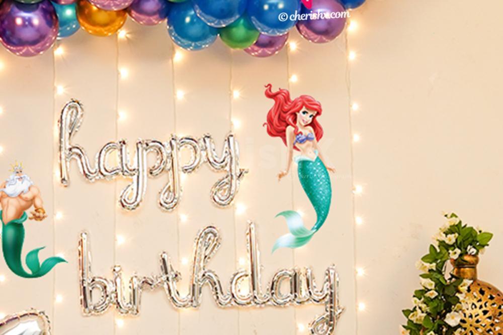 Make your kid's birthday special with CherishX's breathtaking Mermaid Theme Decor!