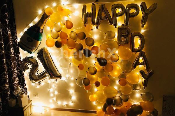 Birthday Champagne Decoration